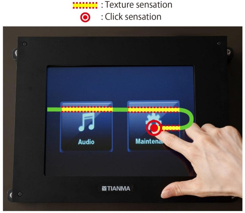 NEW TACTILE DISPLAY PROVIDES TEXTURE AND CLICK SENSATIONS